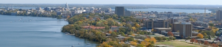 An aerial view of Madison