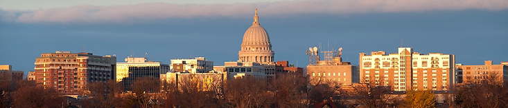The state of Wisconsin's beautiful capital building.